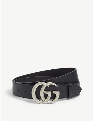 Gucci GG logo reversible leather and suede belt