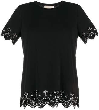 MICHAEL Michael Kors eyelet hem T-shirt