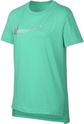 Nike Sportswear Squiggle Swoosh Short-Sleeve T-Shirt - Girls'