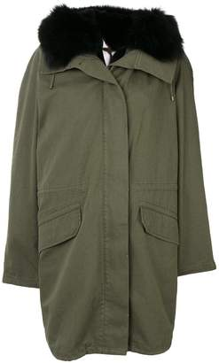 Yves Salomon Army fur trim hooded parka