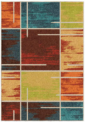 HOME OUTFITTERS Armanda Multicolour Distressed Area Rug
