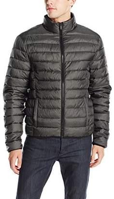 Calvin Klein Jeans Men's Denim Twill Printed Puffer Jacket