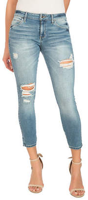 GUESS Sexy Curve Distressed Crop Jeans