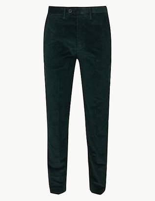 M&S Collection Slim Fit Pure Cotton Corduroy Trousers