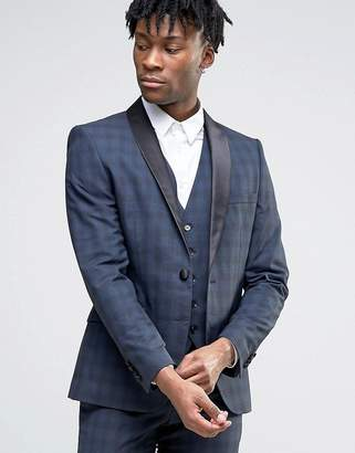 Selected Homme Wedding Check Suit Jacket
