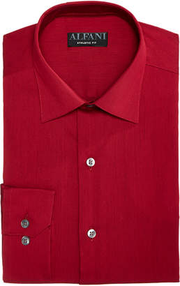 Alfani AlfaTech by Men's Athletic Fit Bedford Cord Dress Shirt, Created For Macy's