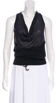 Jean Paul Gaultier Sleeveless Silk-Blend Top