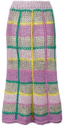 Natasha Zinko Knit Skirt With Check Pattern