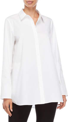 Lafayette 148 New York White Tiegan Shirt