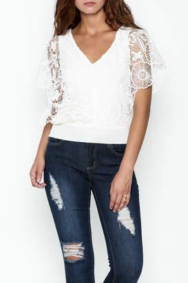 Soieblu White Lace Top