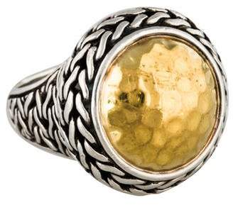 John Hardy Two-Tone Hammered Cocktail Ring $595 thestylecure.com
