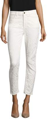 7 For All Mankind Jen7 By Floral Jaquard Ankle Skinny Jeans