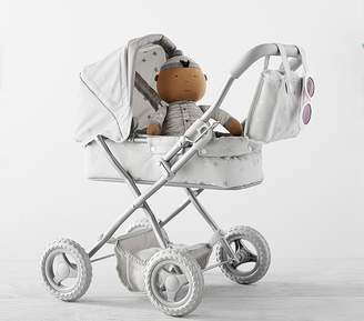Pottery Barn Kids Doll Mini Pram - Gray Stars