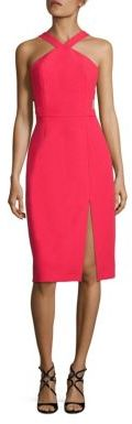 BCBGMAXAZRIA Ruth Cutout Crepe Dress $298 thestylecure.com