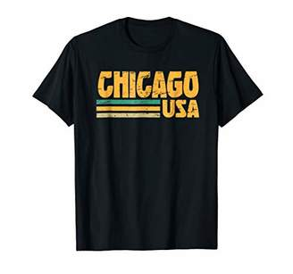 Retro Chicago T-Shirt Distressed Vintage Style