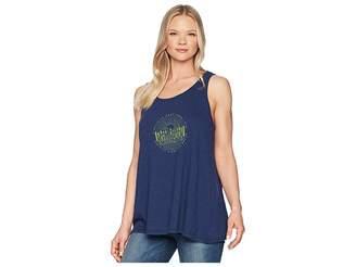 Life is Good Illuminated Bike Breezy Tank Tee Women's T Shirt