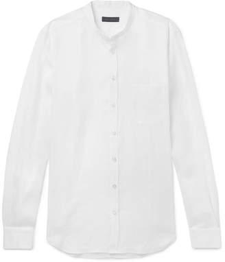 Thom Sweeney - Slim-Fit Grandad-Collar Linen Shirt