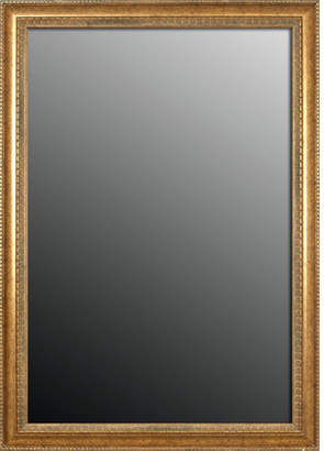 Second Look Mirrors Grecian Beaded Vintage Gold Wall Mirror