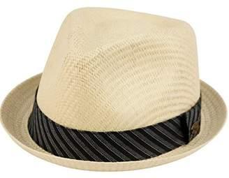 4067dee1e00 Epoch hats Mens Summer Fedora Cuban Style Upturn Short Brim Hat (L XL