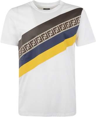 Fendi Diagonal Stripes T-shirt