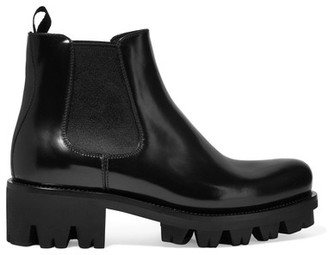 Prada - Leather Chelsea Boots - Black $1,200 thestylecure.com