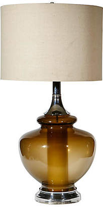 One Kings Lane Vintage 1970s Smoked Glass Table Lamp - 2-b-Modern