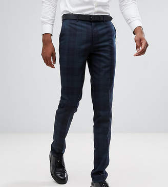 Farah Smart Skinny Suit Pants In Check