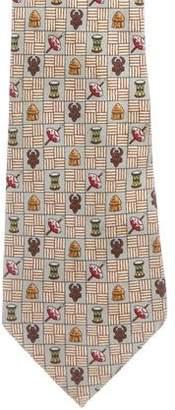 Hermes Tribal Objects Silk Tie