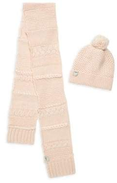 UGG Kid's Two-Piece Novelty Crochet Beanie and Scarf Set