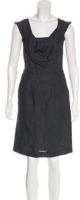 Hache Linen Sleeveless Dress