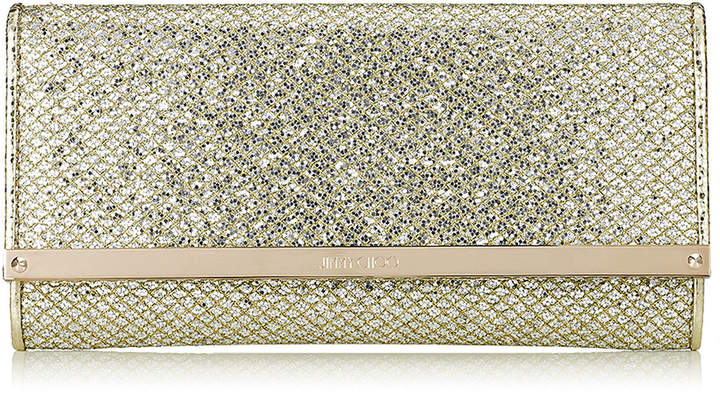 Jimmy ChooMILLA Champagne Glitter Fabric Continental Wallet