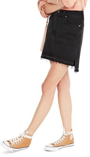 Women's Madewell Step Hem Denim Miniskirt