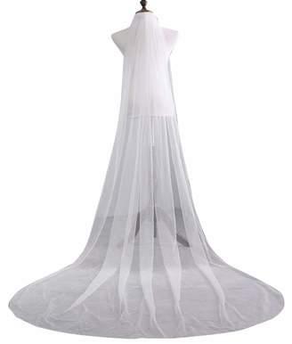 PROMLINK 3M Long Lace Wedding Bridal Veil for Bride