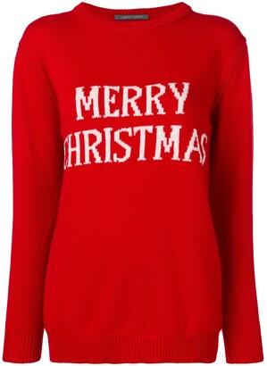 Alberta Ferretti Merry Christmas knitted jumper