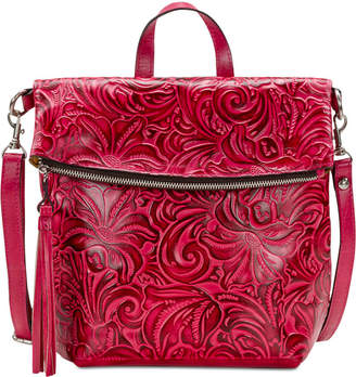 Patricia Nash Burnished Tooled Luzille Convertible Backpack