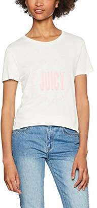Juicy Couture Women's Juicy Round Logo T-Shirt,(Manufacturer Size:Large)