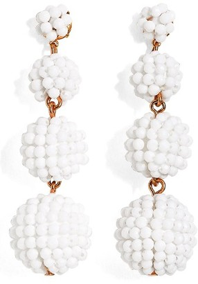 Women's J.crew Beaded Ball Drop Earrings $65 thestylecure.com