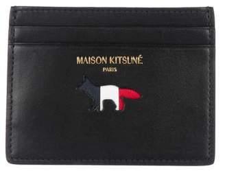 MAISON KITSUNÉ Animal Logo Leather Cardholder