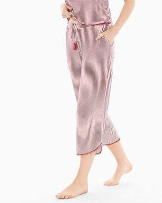 Cool Nights Tassel Crop Pajama Pants Nomadic Stripe Cherrywood