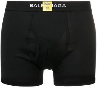 Balenciaga branded waistband boxers