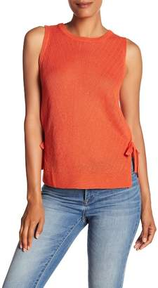 Lucky Brand Side Tie Linen Blend Sweater Tank