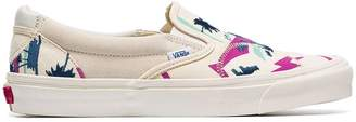 Vans Ivory Palm Bricolage slip-on low-top canvas sneakers