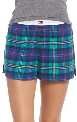 Tommy Hilfiger Plaid Pajama Shorts