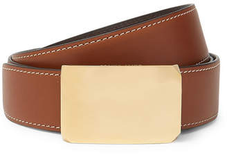 Privee SALLE 4cm Brown And Tan Milton Reversible Leather Belt