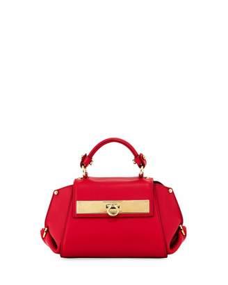 Salvatore Ferragamo Small Calf Leather Top-Handle Bag
