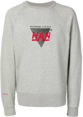 Han Kjobenhavn logo embroidered crew neck sweatshirt