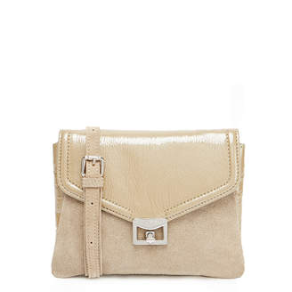 J. Lindeberg Pearl Beige Mini Envelope Suede Clutch Bag