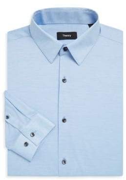 Theory Slim-Fit Cedrick Luxe Knit Shirt