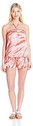Lucky Brand Women's Fireworks Tie-Dye Cover-Up Romper $17 thestylecure.com