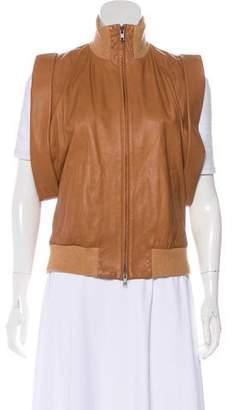 Maison Margiela Leather Mock Neck Vest